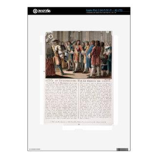 The Prince de Conti (1664-1709) praises the Duke o iPad 3 Skin