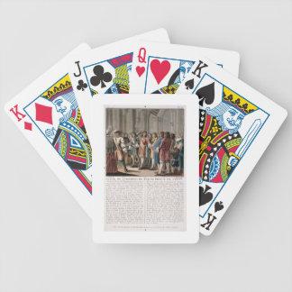 The Prince de Conti (1664-1709) praises the Duke o Bicycle Card Deck