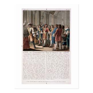 The Prince de Conti (1664-1709) praises the Duke o Postcard