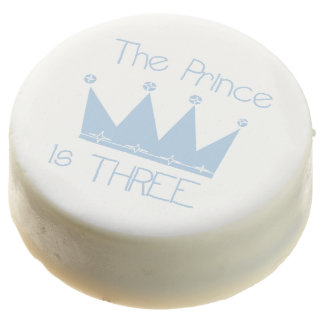 The Prince is Three 3rd Birthday Dipped Oreos