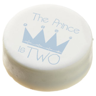 The Prince is Two 2nd Birthday Dipped Oreos