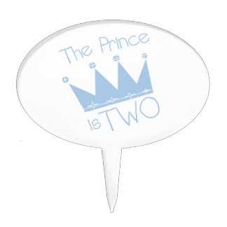 The Prince is Two Birthday Cake Topper