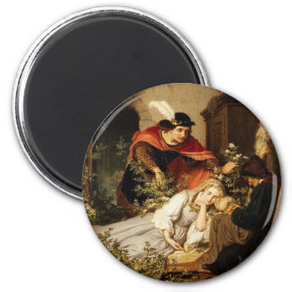 The Prince Leans Toward Sleeping Beauty 2 Inch Round Magnet
