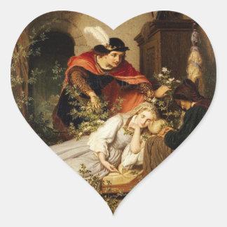 The Prince Leans Toward Sleeping Beauty Heart Sticker