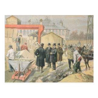 The Prince of Wales  Visiting the Building Postcard