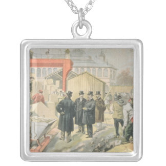 The Prince of Wales  Visiting the Building Silver Plated Necklace