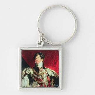 The Prince Regent, later George IV 2 Silver-Colored Square Keychain