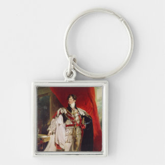The Prince Regent, later George IV Silver-Colored Square Keychain