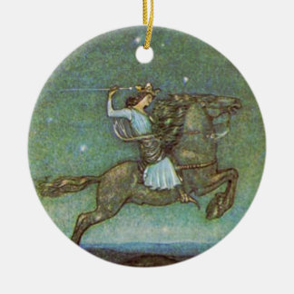 The Prince Rides in Moonlight by John Bauer Ornament