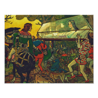 The Prince & the Glass Coffin, Franz Jüttner Poster
