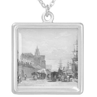 The Prince's Dock, Liverpool Silver Plated Necklace
