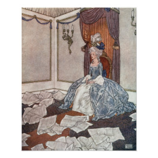 The Princess and the Newspapers by Edmund Dulac Poster