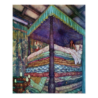 The Princess and the Pea by Edmund Dulac Poster