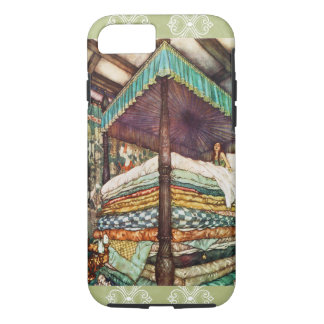 The Princess and the Pea Fairy Tale Illustration iPhone 8/7 Case