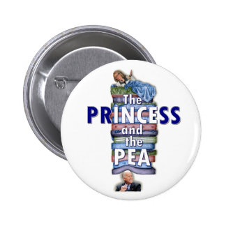 The Princess and the Pea Pinback Button