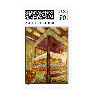 The Princess and the Pea Postage Stamps