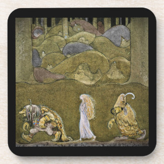 The Princess and the Trolls Beverage Coaster