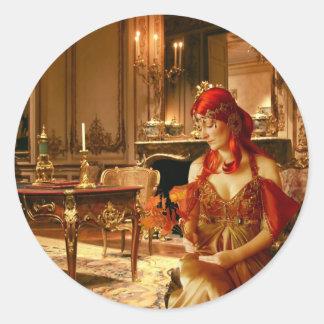 The Princess Awaits (Stickers) Classic Round Sticker