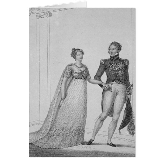 The Princess Charlotte of Wales and Prince Card