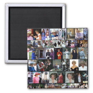 The Princess Diana Collection Montage 1 2 Inch Square Magnet
