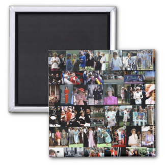 The Princess Diana Collection montage 4 2 Inch Square Magnet