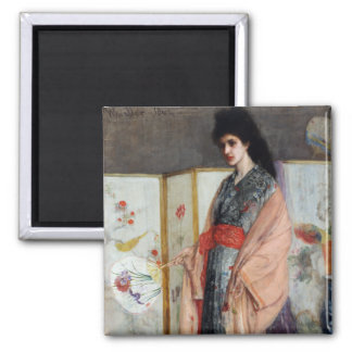 The Princess from the Land of Porcelain, Whistler 2 Inch Square Magnet
