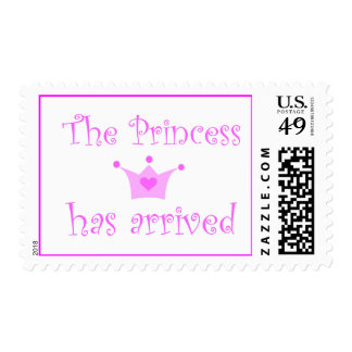 the princess has arrived postage