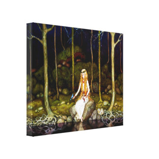 The Princess in the Forest Canvas Print