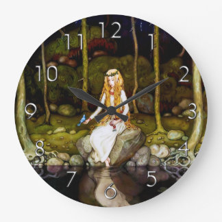The Princess in the Forest Large Clock