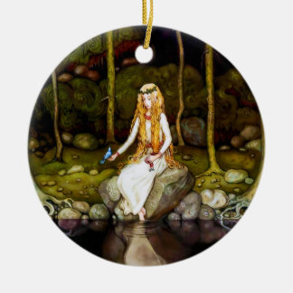 The Princess in the Forest Double-Sided Ceramic Round Christmas Ornament