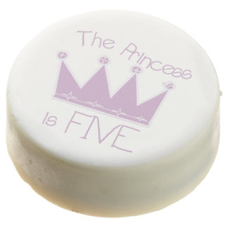 The Princess is Five 5th Birthday Dipped Oreos
