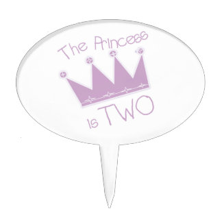 The Princess is Two Birthday Cake Topper