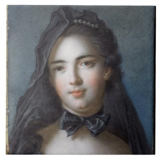 The Princess of Beauveau, nee Sophie Charlotte de Large Square Tile