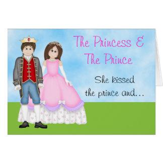The Princess Prince and Unicorn Birthday Card