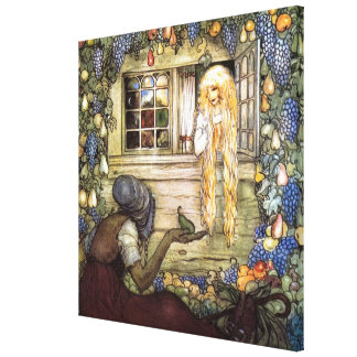 The Princess the Witch and the Pear by John Bauer Canvas Print