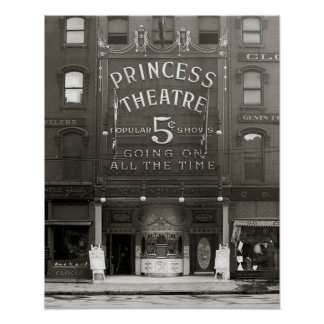 The Princess Theatre, 1910. Vintage Photo Poster