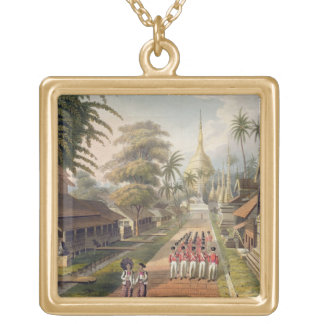 The Principal Approach to the Great Dagon Pagoda a Gold Plated Necklace