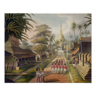 The Principal Approach to the Great Dagon Pagoda a Poster