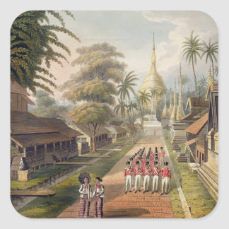 The Principal Approach to the Great Dagon Pagoda a Square Sticker