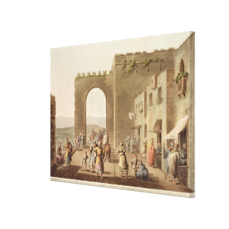 The Principal Street in Bethlehem, from 'Views of Canvas Print