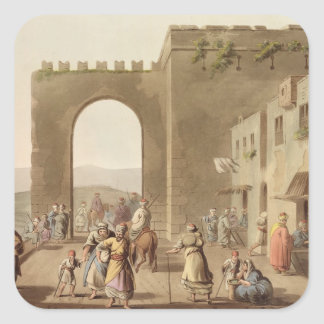 The Principal Street in Bethlehem, from 'Views of Square Sticker