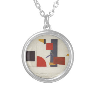 The principle of painting the walls by Kazimir Silver Plated Necklace