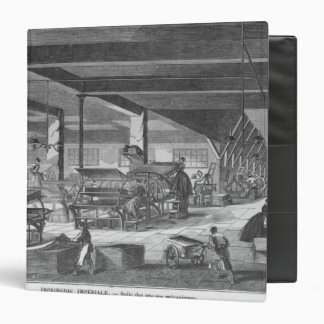 The printing presses room binder