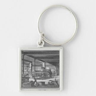 The printing presses room key chain