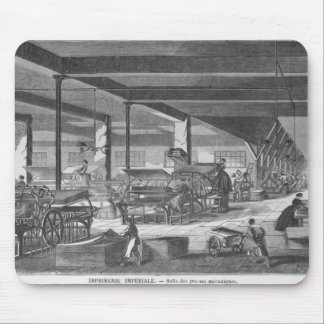 The printing presses room mouse pad