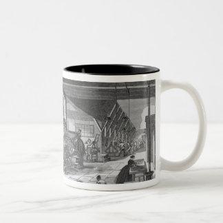 The printing presses room Two-Tone coffee mug