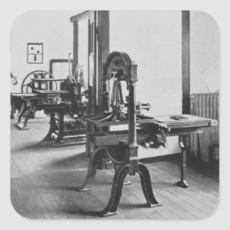 The Printing Works, from the Workshops of the Bauh Square Sticker