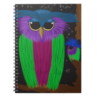 The Prismatic Crested Owl Notebook