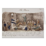 The Prison, 1858 (coloured engraving) Card