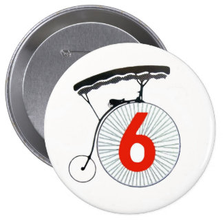 The Prisoner Number 6 Button